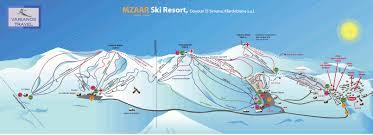 Lebanon World Map by Map Of Faraya Mzaar Ski Resort In Lebanon