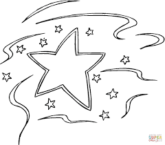 decoration star coloring free printable coloring pages