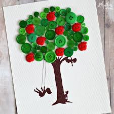 apple button tree craft for rhythms of play