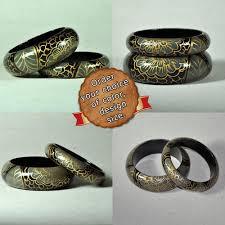 handmade bracelet designs images Designer handmade hand painted wooden bangles bracelets paint ki jpg
