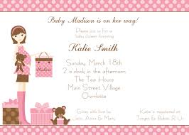 Hallmark Invitation Cards Template Baby Shower Invitations Card For Girls