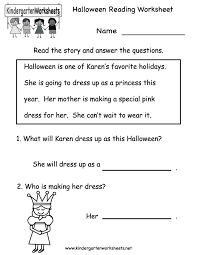 free printable halloween reading worksheets u2013 festival collections
