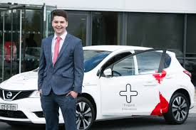 kelly nissan nexus medical entrepreneur chris lands keys to new car as nissan