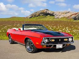 Mustang Red And Black 1971 Ford Mustang Convertible Red And Black 3 4 Front View On