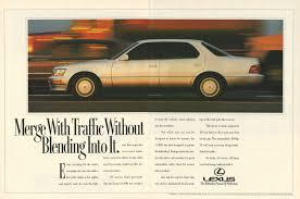 lexus ls400 usa lexus ls 400 automobile original 1992 vintage color print