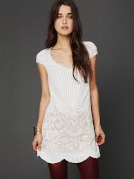 free people fp new romantics speak easy shift dress in white lyst