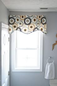 interior cool bathroom small window fabric valance ideas