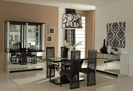 Mirrored Dining Room Table Bring Elegance With Black Dining Room Set Ideas Chatodining
