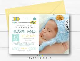 baby thank you cards tribal birth announcement boy printable baby thank you card