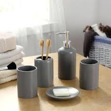 gray bathroom accessories set amazing inspiration ideas gray