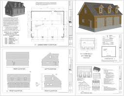 Small Cottages Floor Plans G532 X House Plan 40x40 Garage Plans Bedroom Log Cabin Small