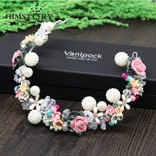 flower accessories elegance handmade headbands shell leaves soft headpiece pearl