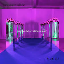 39 inch height square silver mirror pillar party and wedding