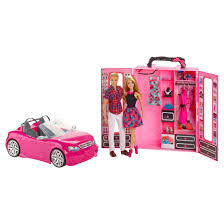barbie convertible barbie with ken closet u0026 convertible and sister 2 packs