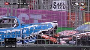 lexus cars gold coast start crash race 1 v8 utes gold coast 2016 youtube