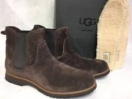 s ugg australia brown leather boots ugg australia briscoe s chelsea suede stout brown ankle boot