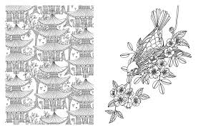 posh coloring book japanese designs for relaxation