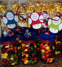 mario party supplies personalized mario brothers baby food jar party favors