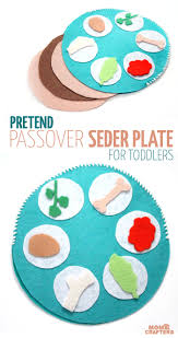 pretend seder plate for toddlers moms and crafters