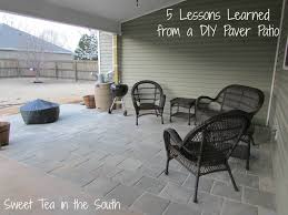 Lowes Polymeric Paver Sand by 5 Lessons Learned From A Diy Paver Patio Sweet Tea In The South