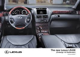 lexus ls430 interior new lexus ls430 to be shown at frankfurt motor show lexus uk
