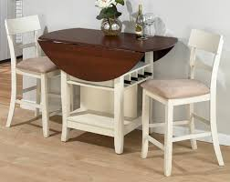 round dining table with leaf white leather of the dining chairs