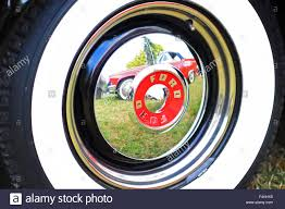 Vintage Ford Truck Hubcaps - classic american 1950s era ford thunderbirds cars car at an
