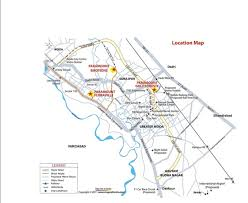 Noida Metro Route Map by Paramount Golf Foreste Paramount Golf Foreste Pari Chowk
