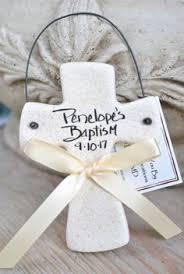 baptism ornament favors baptism ornament trendy cross personalized favor salt dough