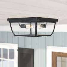 Outdoor Lighting Ceiling Outdoor Flush Mount Lights You Ll Wayfair