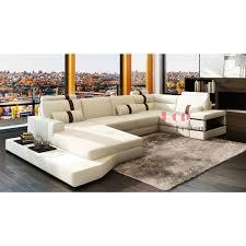 canapé panoramique en cuir canapé d angle panoramique en cuir véritable sydney pop design fr