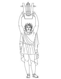 apollo from greek gods and goddesses coloring page netart