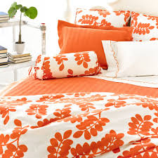 Orange Bed Set Erika Persimmon Duvet Cover And Nursery Kid Bedding Sets In