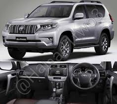 toyota land cruiser 2018 toyota land cruiser prado front three quarters and dashboard