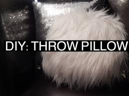 Cheap Faux Fur Blanket Diy Fur Throw Pillow Youtube