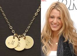 Intial Necklace Initial Necklace Gold Disc Charm Necklace By Kestjewelry On