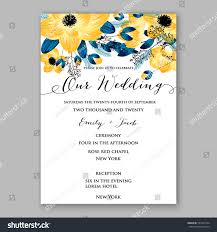 Invitation Card Samples Anemone Wedding Invitation Card Template Floral Stock Vector