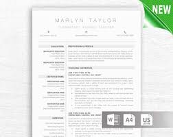 teacher resume template for word u0026 pages 1 3 page resume for