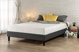 amazon com zinus essential upholstered platform bed frame