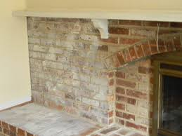 Fireplace Brick Stain by Whitewashed Brick