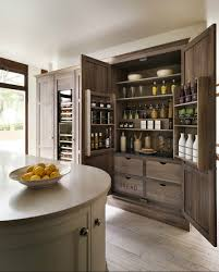 Kitchen Pantry Ideas by Cabinets U0026 Storages Oak Wooden Stylish Kitchen Pantry Remodel