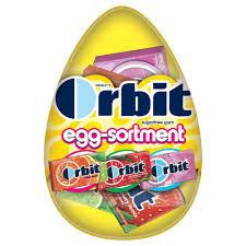 easter egg gum orbit easter egg sortment gum 2 81 oz gum and