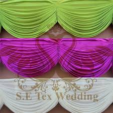 wedding backdrop used swag drape curtain used for wedding backdrop table skirt in