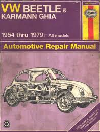 1954 thru 1979 vw beetle u0026 karmann ghia u2013 automotive repair manual