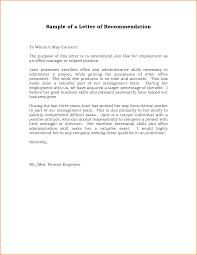 doc 600750 sample recommendation letter job u2013 sample