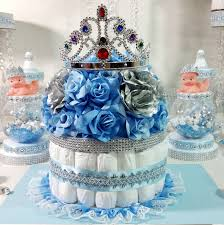diaper cake girls centerpiece with tiara crown for royal princess