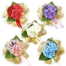 wedding wrist corsage shuiwu handmade roses wedding bridal flower wrist corsage