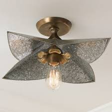 Metal Ceiling Light Shades Galvanized Bloom Ceiling Light Shades Of Photo With Charming