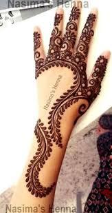 cut work leaves dark henna tattoo on hand henna designs
