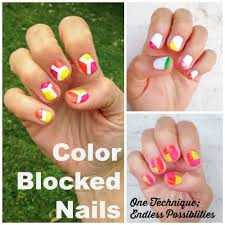 color blocked nail art tutorial one technique endless possibilities
